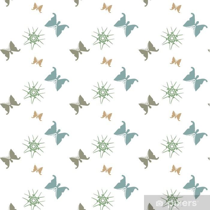 papier peint papillons déco nordique Wall Mural • Pixers® • We live ...