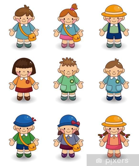 bf74e9d9 Fototapet Tegneserie barn ikon sett • Pixers® - Vi lever for forandring
