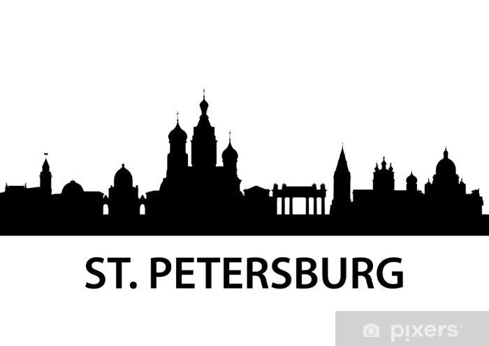 Papier peint vinyle Skyline Saint-Pétersbourg - Asie
