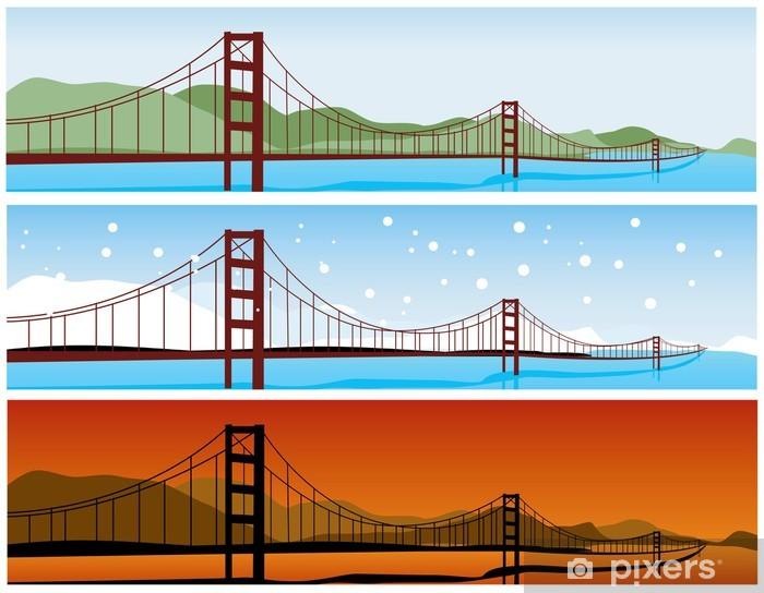 Vinyl-Fototapete Brücke - Infrastruktur
