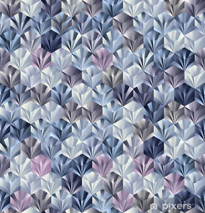 3d geometric seamless pattern. Vinyl Wall Mural - Styles
