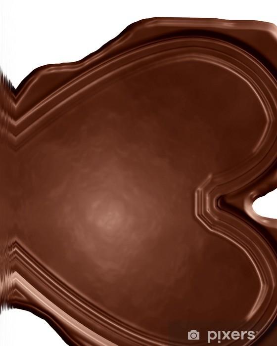 Papier peint vinyle Coeur en chocolat - Desserts et friandises
