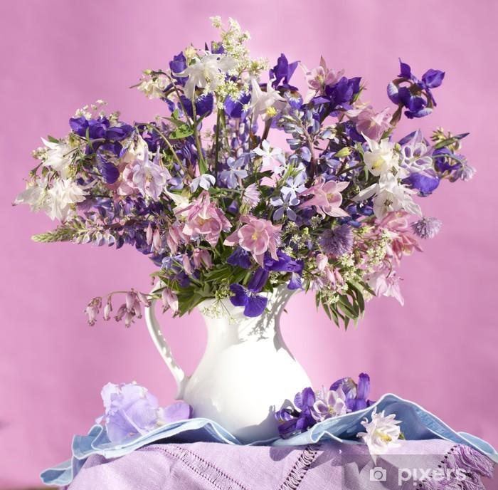 Plakat Bukiet irysów i łubin - Kwiaty