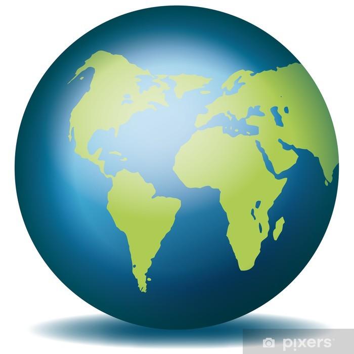 globus karte Weltkugel Weltkarte Landkarte Globus Karte 3 Door Sticker • Pixers