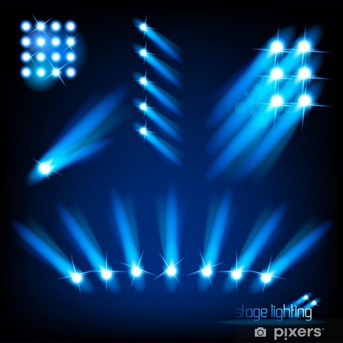 Vinilo Pixerstick Elementos vectoriales luz de la etapa - Señales y símbolos