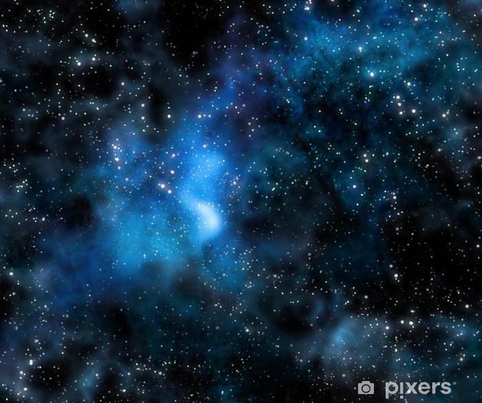 Naklejka Pixerstick Gwiaździsta Mgławica głębokiej przestrzeni kosmicznej i galaxy - Style