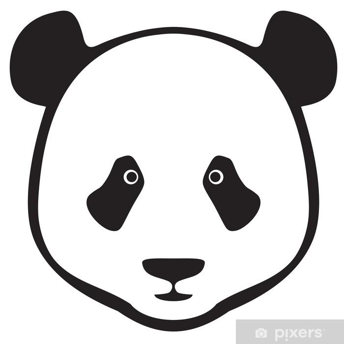 Pixerstick Sticker Panda hoofd - Muursticker