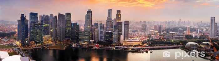 Fototapeta winylowa Singapore o zachodzie słońca - Tematy