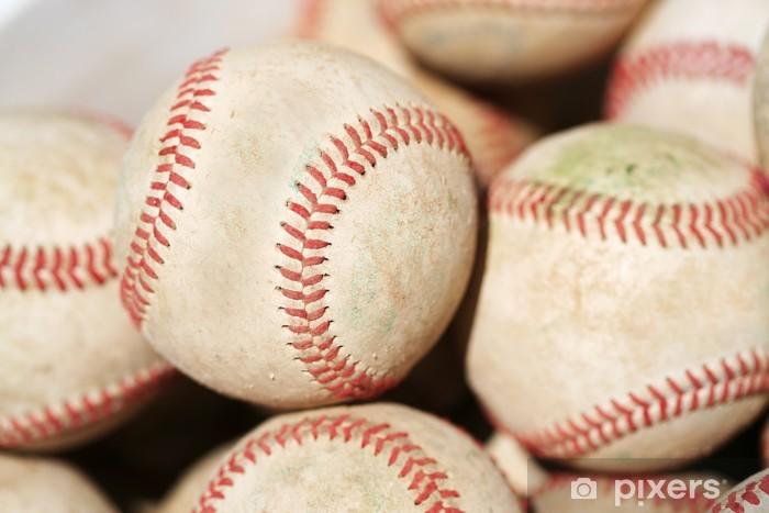 Fototapeta winylowa Wiadro Baseballs - Artykuły sportowe