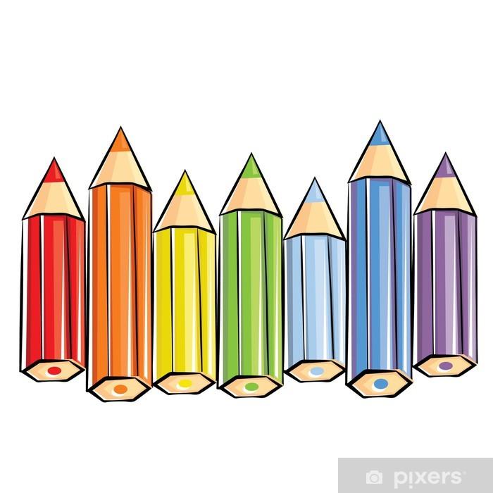 Plakat Kolorowe kredki • Pixers® - Żyjemy by zmieniać