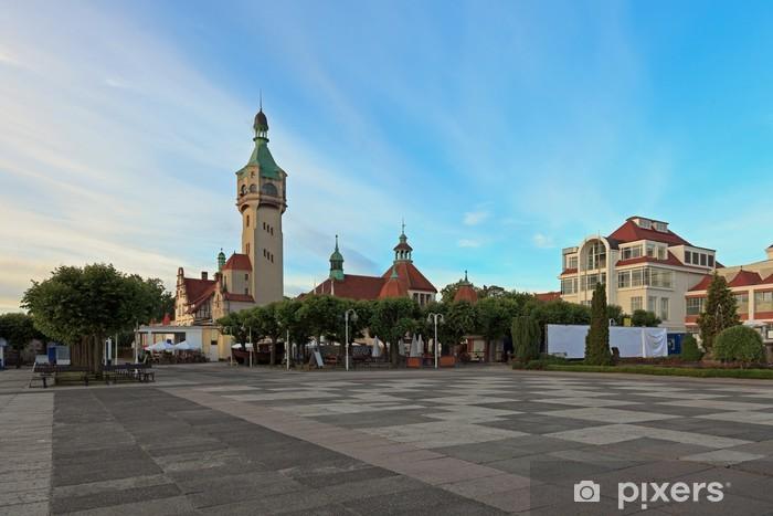 Papier peint vinyle Vieux phare à Sopot, en Pologne. - Thèmes