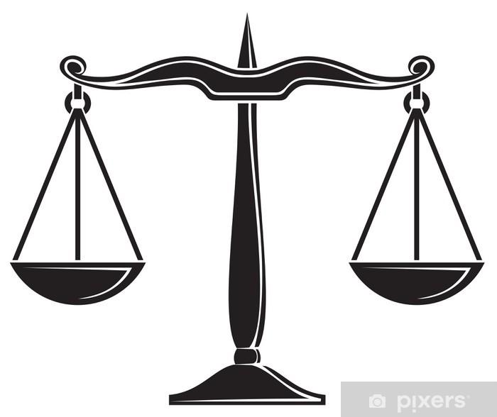Fototapeta winylowa Wagi sprawiedliwości - Tła
