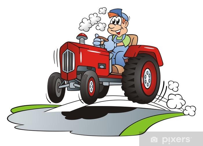 Sticker Pixerstick Tracteur à grande vitesse - Sticker mural