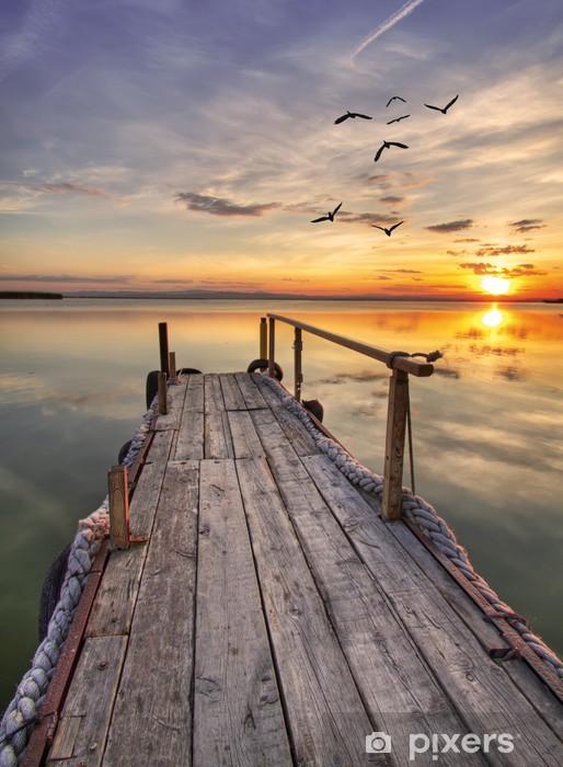 Kaststicker Houten pier -