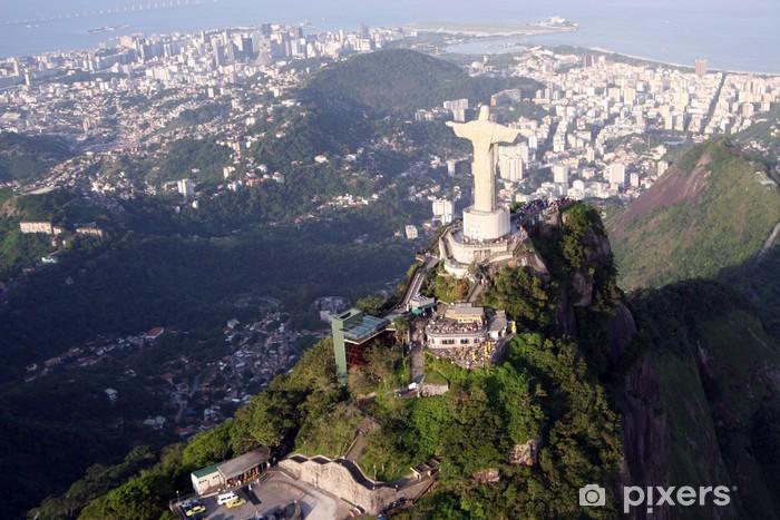Vinyl Fotobehang Christusbeeld in Rio de Janeiro - Brazilië