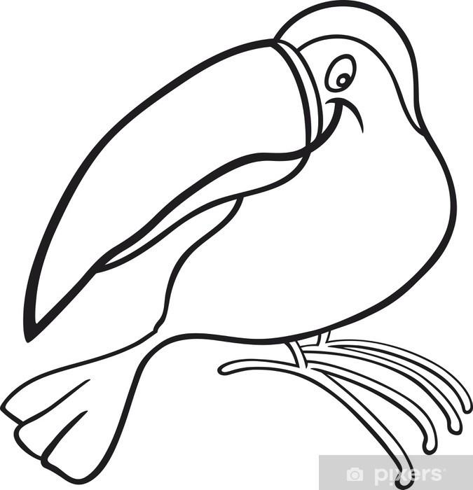 Vinilo Dibujos Animados Para Tucán Libro Para Colorear Pixerstick