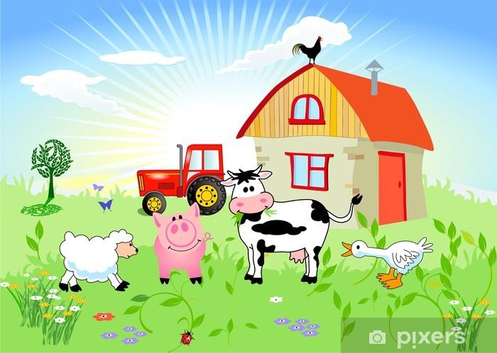 Vinilo Pixerstick Los animales de granja -