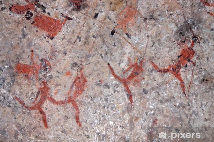 Sticker Pixerstick Bushmen roche peinture, Afrique du Sud - Afrique