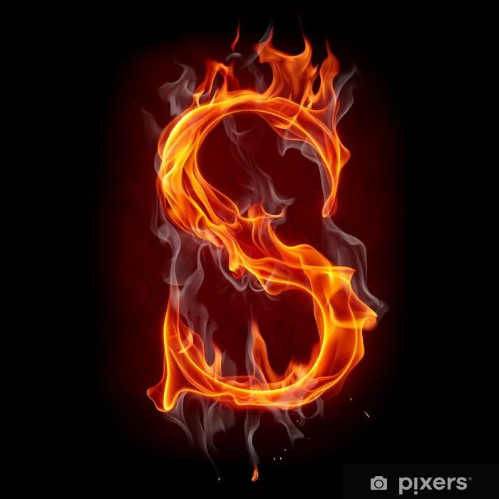 Fototapete Feuer Schriftart. Buchstaben S. • Pixers® - Wir leben