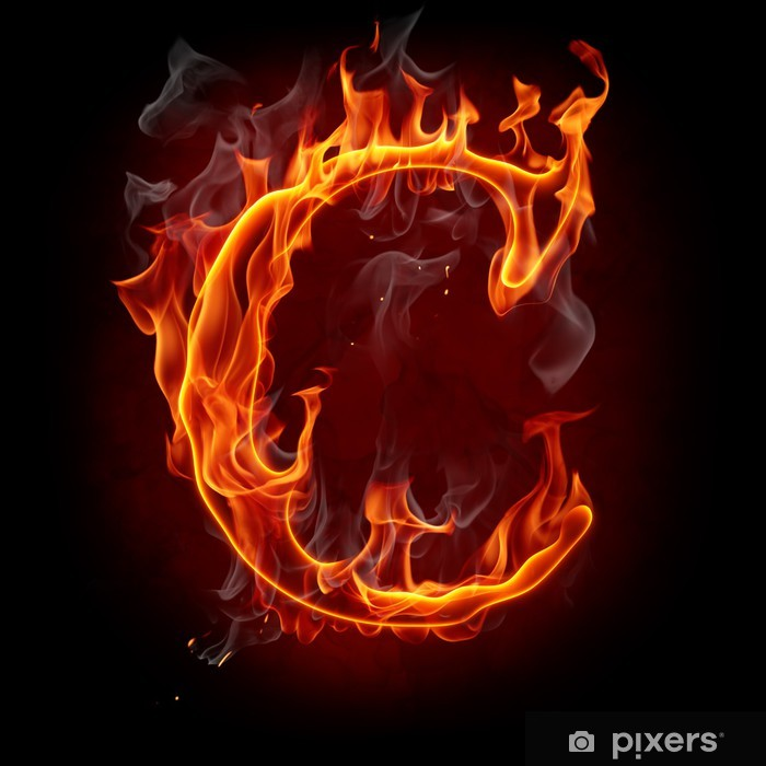 Fire Font Letter C Wall Mural Pixers 174 We Live To Change
