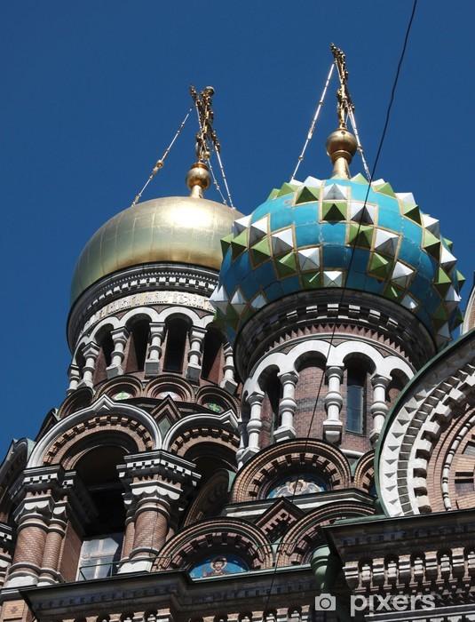 Papier peint vinyle Dômes de l'église de la Résurrection à Saint Pétersbourg - Bâtiments publics
