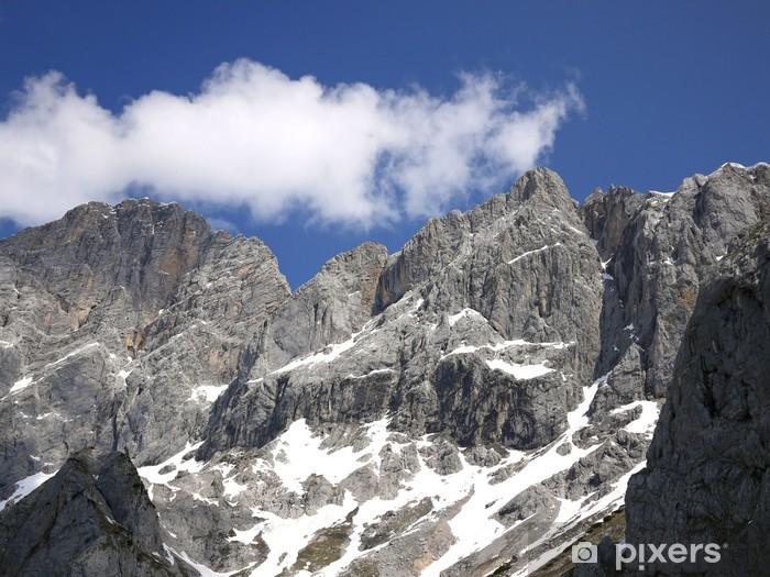 Naklejka Pixerstick Spojrzeć na szczyt górski - Góry
