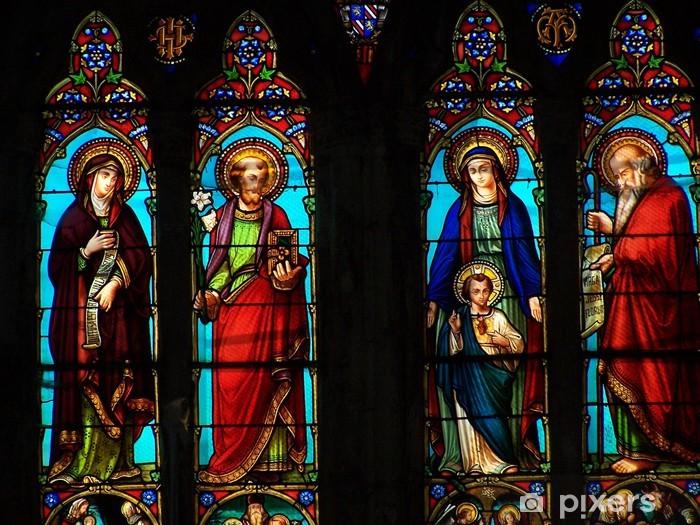 Fototapeta winylowa Witraż w kaplicy Moustiers - Pejzaż miejski