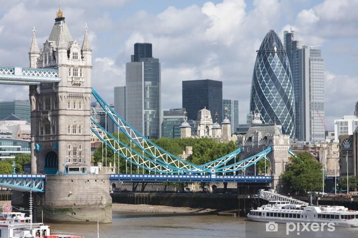 Papier peint vinyle Tower Bridge et The Gherkin - Thèmes