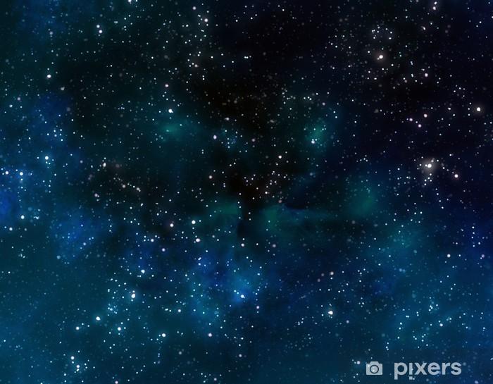 Vinyl Fotobehang Diepe ruimte of starry night sky - Thema's