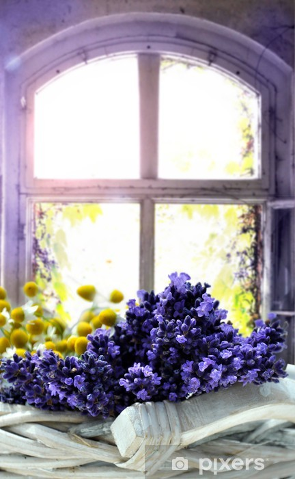 Lavendel Pixerstick Sticker - Herbs