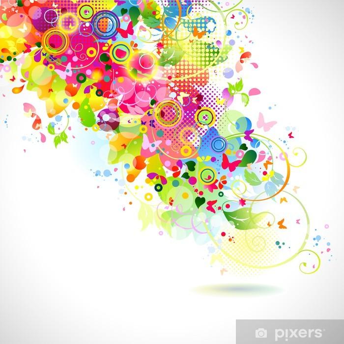 Plakat Abstrakcyjnych kompozycji z miejscem na tekst - Pory roku