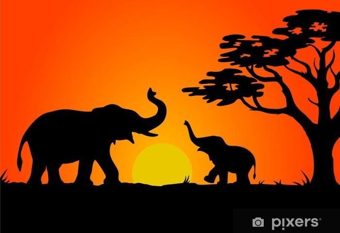 Fotomural Estándar Safari atardecer - Temas