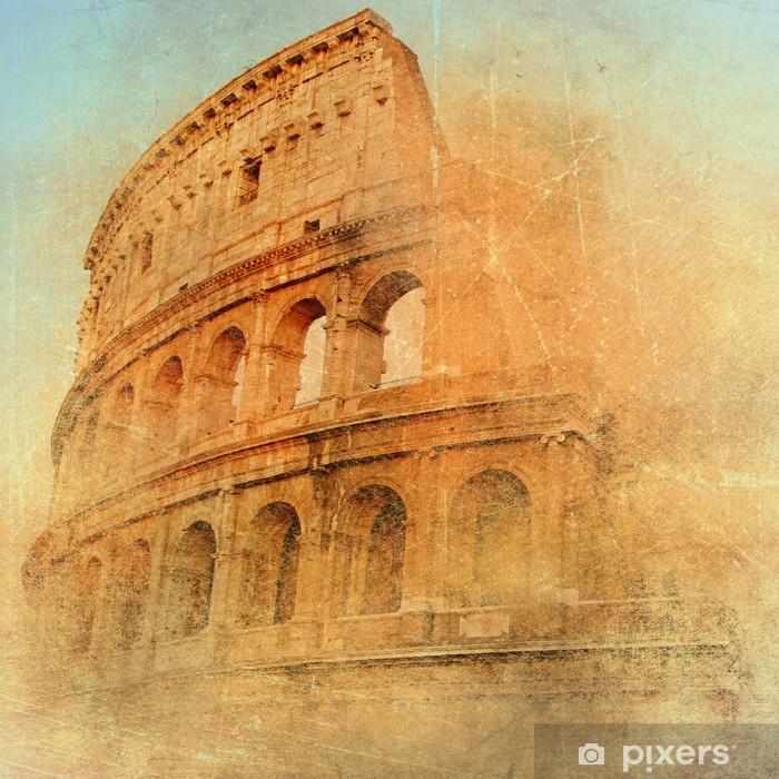 Plakat Wielki antyczny Rzym - Coloseum, grafika w stylu retro - Style