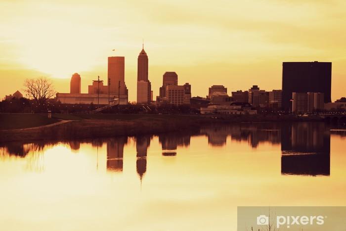 Fototapeta winylowa Indianapolis o wschodzie słońca - Pejzaż miejski