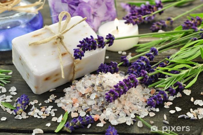 Naklejka Pixerstick Lavendelbad - Uroda i pielęgnacja ciała