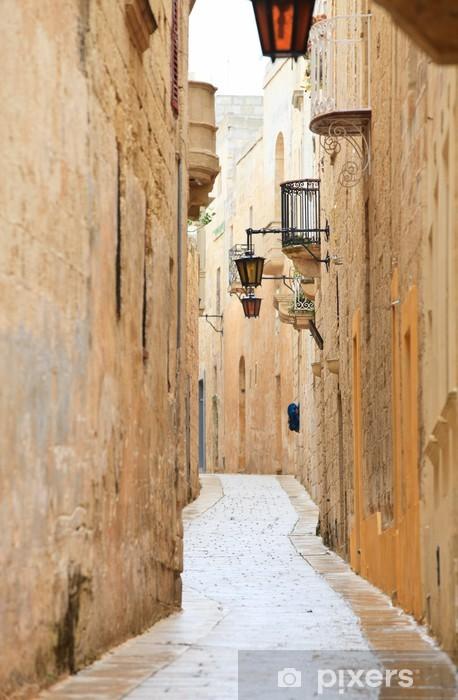 Fototapeta samoprzylepna Mdina wąska ulica - Europa