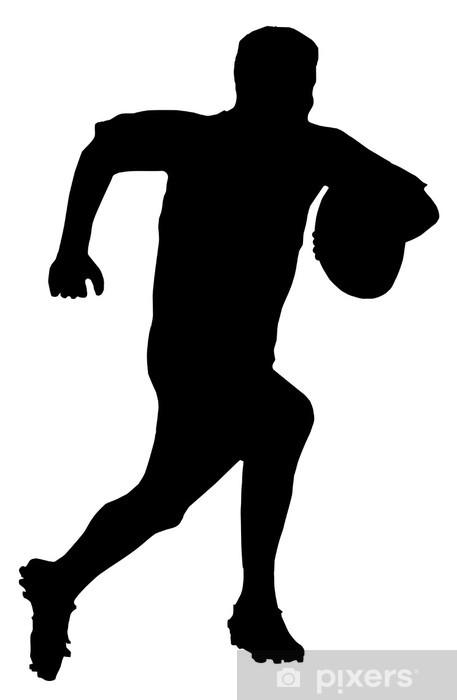 Fototapeta zmywalna Silhouette Sport - Rugby Football Runner - Rugby