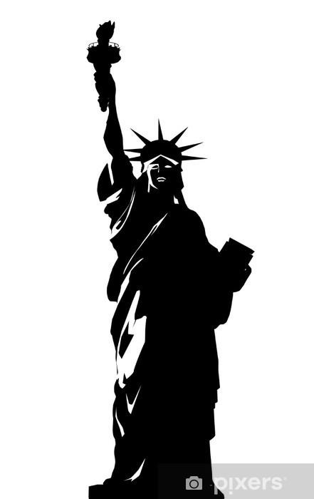 Vinilo Pixerstick Ilustración vectorial de la estatua de la libertad ...