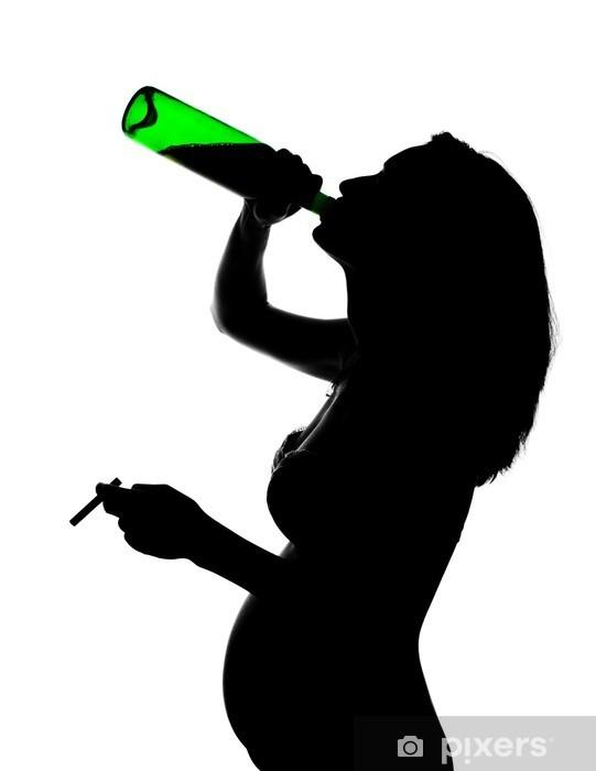 Papier peint vinyle Silhouette d'enceinte négligent - Addiction