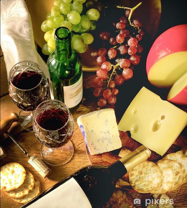 Vinyl-Fototapete Wein und Käse - Käse