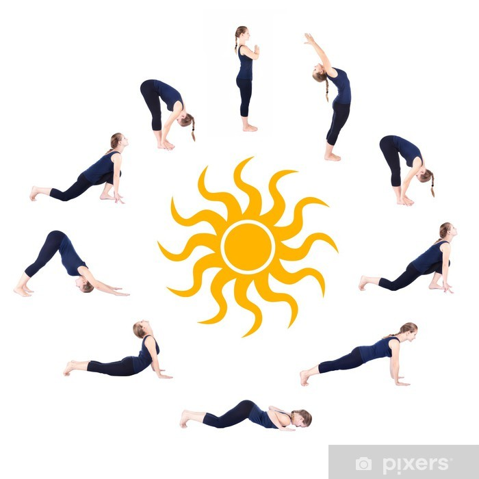 Poster Stufen Des Yoga Surya Namaskar Sonnengruss Pixers Wir Leben Um Zu Verandern