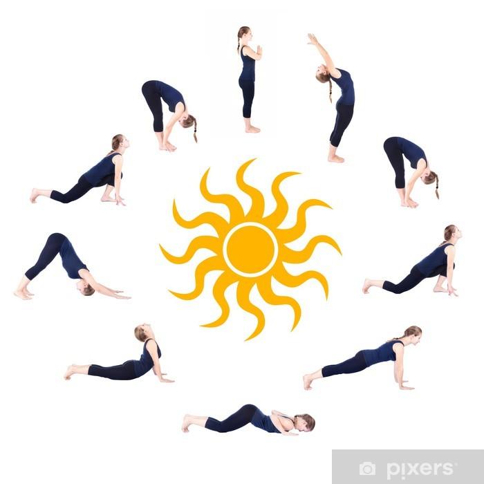 Steps Of Yoga Surya Namaskar Sun Salutation Wall Mural Pixers We Live To Change