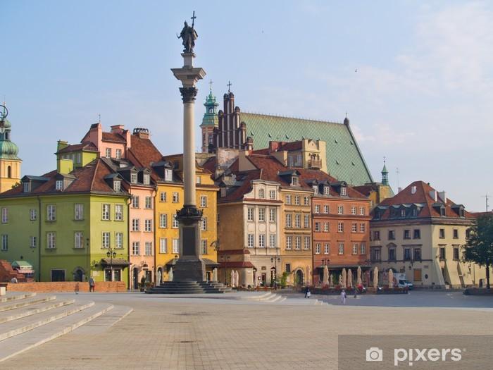 Vinilo Pixerstick Plaza de la ciudad vieja, Varsovia, Polonia - Temas