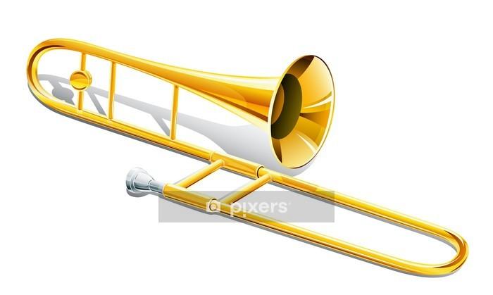 trombone musical instrument Wall Decal - Music