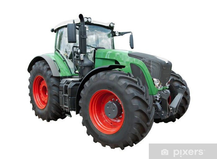 Vinilo Pixerstick Tractor moderno - Agricultura