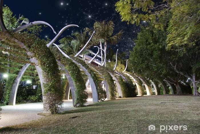 Vinyl-Fototapete Sternklare Nacht über Brisbane Garten - Urlaub