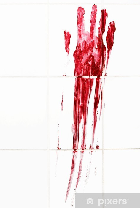 Fototapeta winylowa Krwawe morderstwo - Tematy