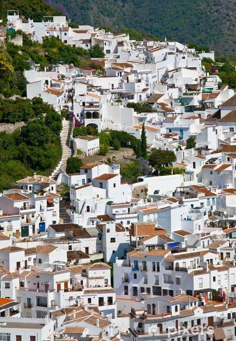 Papier peint vinyle Le villiage blanc de Frigiliana, Andalousie, Espagne - Thèmes