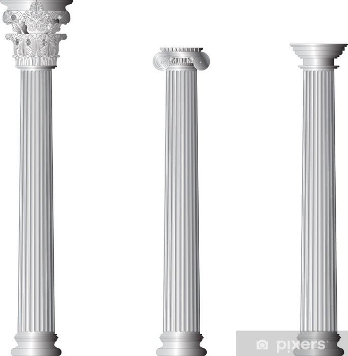 Corinthian Ionic Doric columns Pixerstick Sticker - Monuments