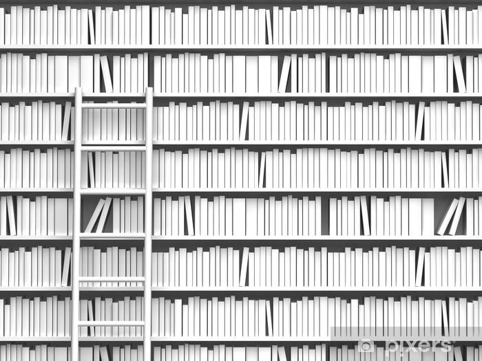 Pixerstick Sticker 本 棚 と は し ご - bibliotheek